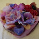 Handmade Decorative Scented Floral Heart Candle P06