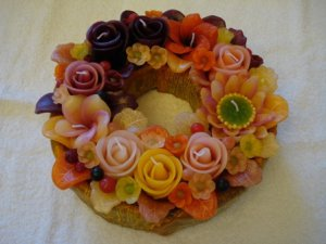 Handmade Decorative Scented Floral Wreath Candle M04