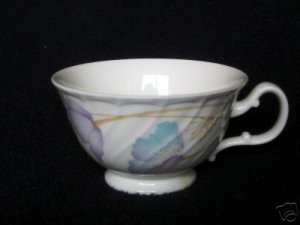 Noritake 9902 Scalloped Floral Bone China Cup