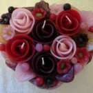 Handmade Decorative Scented Floral Heart Candle P05
