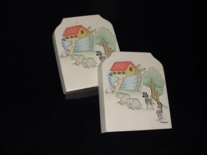 MM's Designs Noah's Ark Nursery Book Ends