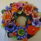 Handmade Decorative Scented Floral Wreath Candle M03