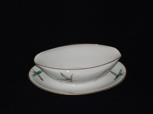 Noritake 5565 Gravy Boat with Attached Underplate