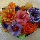 Handmade Decorative Scented Floral Oval Candle M02