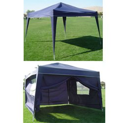 10 x 10 BLUE EZ Pop up Canopy w/4 sidewalls(ITEM#A10X10)