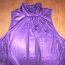 WOMENS sz XL STUDIO 1940 PURPLE HIGH NECK BLOUSE NWOT