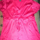 WOMENS 10 DEEP PINK SPRING, SUMMER BLOUSE GREAT FIT EUC