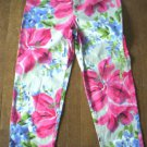 WOMENS 12 WILLI SMITH FLORAL PRINT CAPRIS w/STRETCH EUC