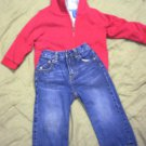 BOYS 24 MONTHS FUR LINED HOODIE & DKNY JEANS BOTH EUC!