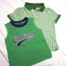 TODDLER BOYS 2T GAP & OSHKOSH SHIRTS LOT GREEN IN EUC!