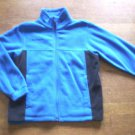 BOYS 10 COLUMBIA BLUE FLEECE ZIP FRONT JACKET SZ 10-12