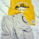 TODDLER BOYS 2T & 24 MONTHS LOT, SHORTS & 2 SHIRTS EUC
