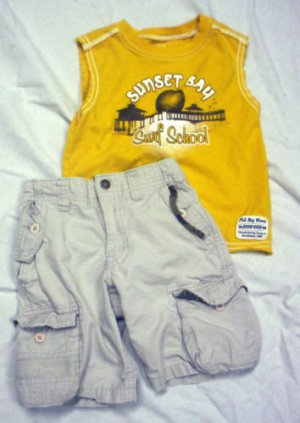 TODDLER BOYS 2T &amp; 24 MONTHS LOT, SHORTS &amp; 2 SHIRTS EUC