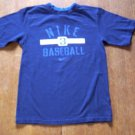 BOYS 7 NIKE BLUE BASEBALL T-SHIRT WITH GRAPHICS IN EUC!