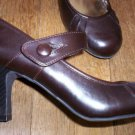 CANDIES BROWN HEELS CUTE MARY-JANE STYLE, sz 9.5 & NWOB