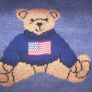 BOYS 4T SWEATER WITH TEDDY BEAR & AMERICAN FLAG, SO CUTE AND NWOT