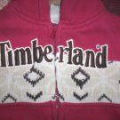 BOYS 24 MONTHS TIMBERLAND HOODIE RED ZIP FRONT, FUR LINED HOOD SO CUTE!!!