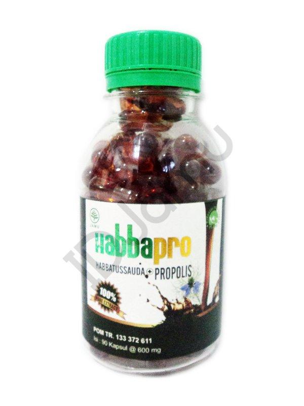 Herbal Nigella Sativa Black Seed Habbatussauda + Propolis Oil Habbapro 90 Caps