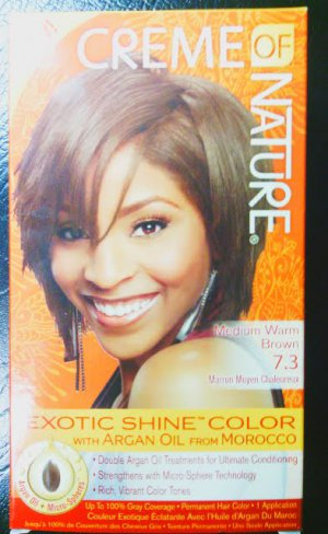 Creme of Nature Medium Warm Brown 7.3 Exotic Shine Color