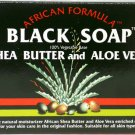 African Formula Black Soap Shea Butter and Aloe Vera 3.5 Oz.