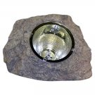 "7"" Sandstone Grey Solar Spotlight Outdoor Power Rock"