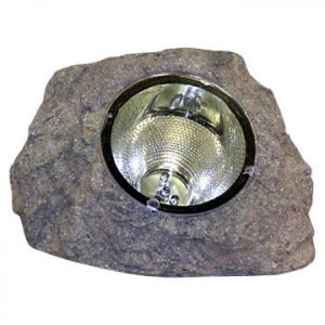 "7"" Sandstone Grey Solar Spotlight Outdoor Power Rock"