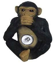 Solar Powered Monkey Spotlight