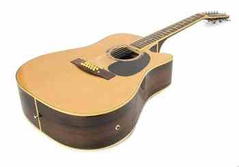NEW 12-String Natural Wood Spruce Rosewood Willow Acoustic Electric Guitar