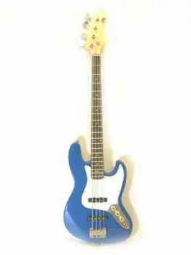 "NEW 47"" 4 String 20 Fret Blue PJ Electric Bass Guitar"