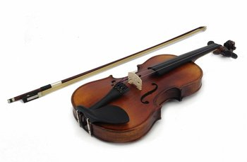 """NEW Full Size 4/4 Student Violin Maple Wood 23"""" Long with Bow & Hard Carry Case"""
