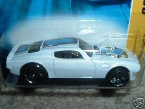 2007 Hotwheels FE 16/36 70 Firebird White in color