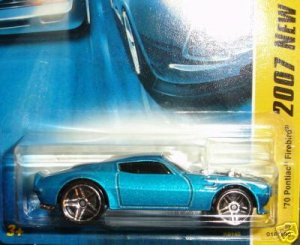 2007 Hotwheels FE 16/36 70 Firebird BLUE IN COLOR