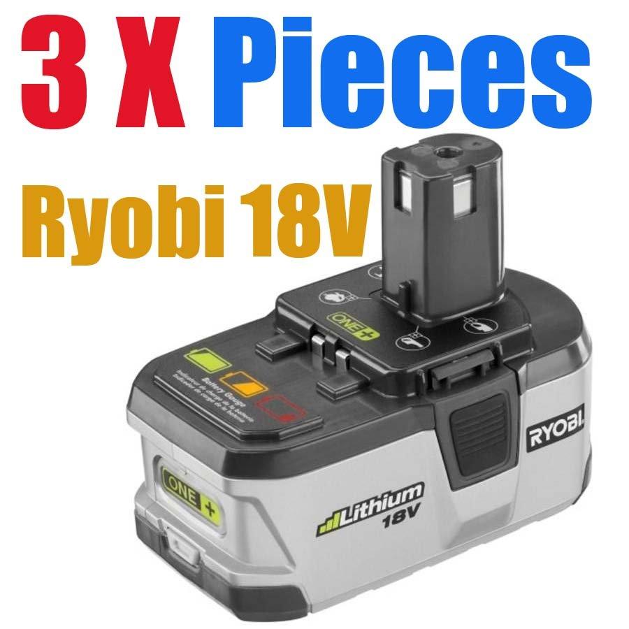 3 packs x ryobi 18v battery one lithium battery p104. Black Bedroom Furniture Sets. Home Design Ideas