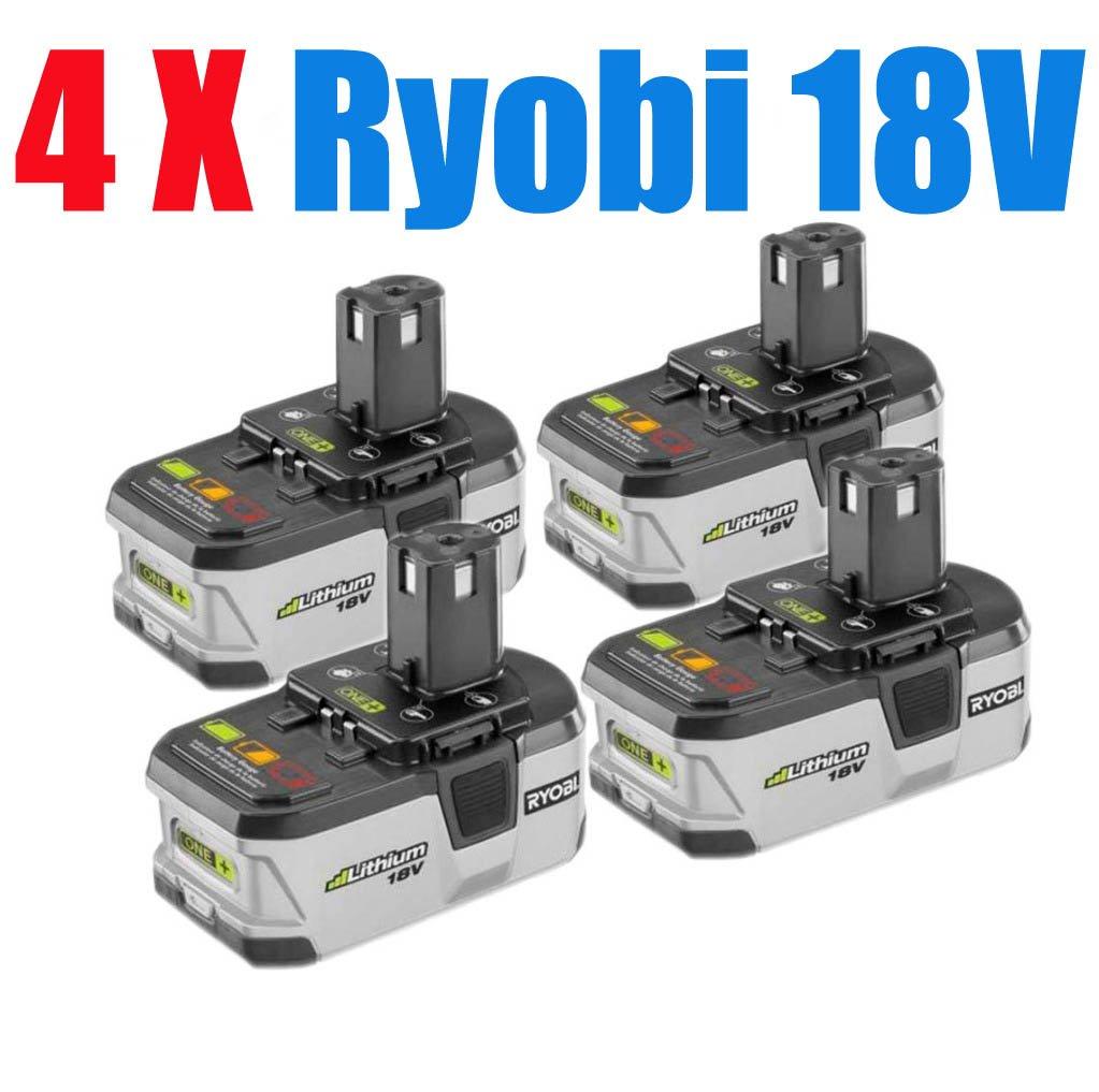 4 packs x ryobi 18v battery one lithium battery p104. Black Bedroom Furniture Sets. Home Design Ideas