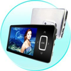 Micro Digital Camera MP4 Player - LED Touch Buttons - 2GB [CVAAL-M13382GB]