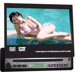 1-DIN Car DVD Player 7 Inch TFT + TV Tuner