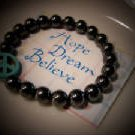 Healing & Base Chakra Balancing Hematite Bracelet - Handcrafted