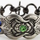 Jeweled Dragon Bracelet  Pewter