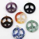 Peace Sign Gemstone Pendant