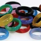 6mm Agate Rings Rounded - 20/bag