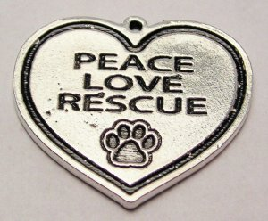 Peace Love Rescue Charms LOT of 30
