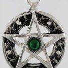 Celtic Knot Pentagram Amulet - Swarovski Crystal - Pewter
