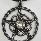 Celtic Pentagram Circle - Pewter Sculpted Circle with Celtic Knotwork