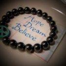 Healing & Base Chakra Balancing Hematite Bracelet - Handcrafted