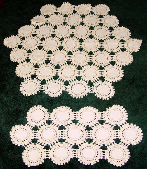 Crocheted Table Centerpiece and Runner - OLD