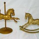 ROCKING HORSE & CIRCUS HORSE - Brass - VINTAGE