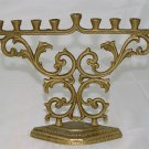 MENORAH - SOLID BRASS  - ORNATE - Vintage