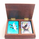DUCK GOOSE Playing Cards - Two Decks in Wooden Box
