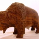 BISON - Heavy Iron Wood Sculpture - VINTAGE