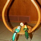 PARROTS - Hanging Birds Decor - Hand Crafted Ceramic - Vintage